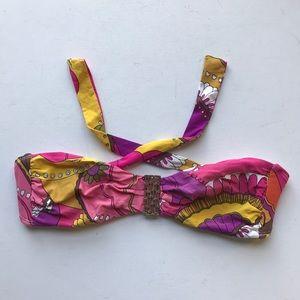 Trina Turk Swim - Trina Turk Print Bandeau Bikini Swimsuit Top